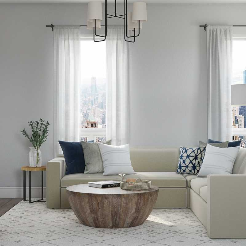 Bohemian, Midcentury Modern, Minimal, Scandinavian Living Room Design by Havenly Interior Designer Amanda