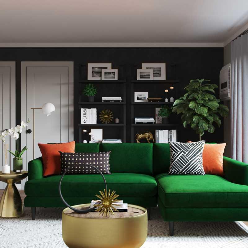 Contemporary, Glam Living Room Design by Havenly Interior Designer Nicolle