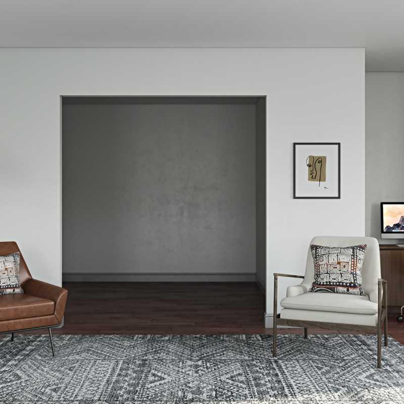 Eclectic, Midcentury Modern Living Room Design by Havenly Interior Designer Adrian
