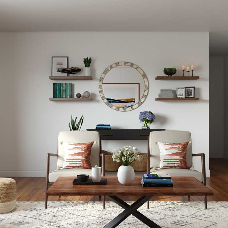Midcentury Modern Living Room Design by Havenly Interior Designer Brady