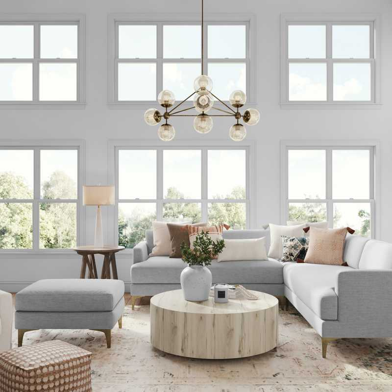 Classic, Coastal, Transitional Living Room Design by Havenly Interior Designer Sarah