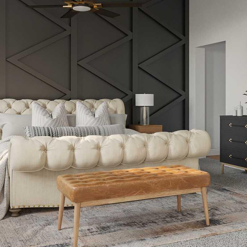 Midcentury Modern, Minimal, Scandinavian Bedroom Design by Havenly Interior Designer Carsey