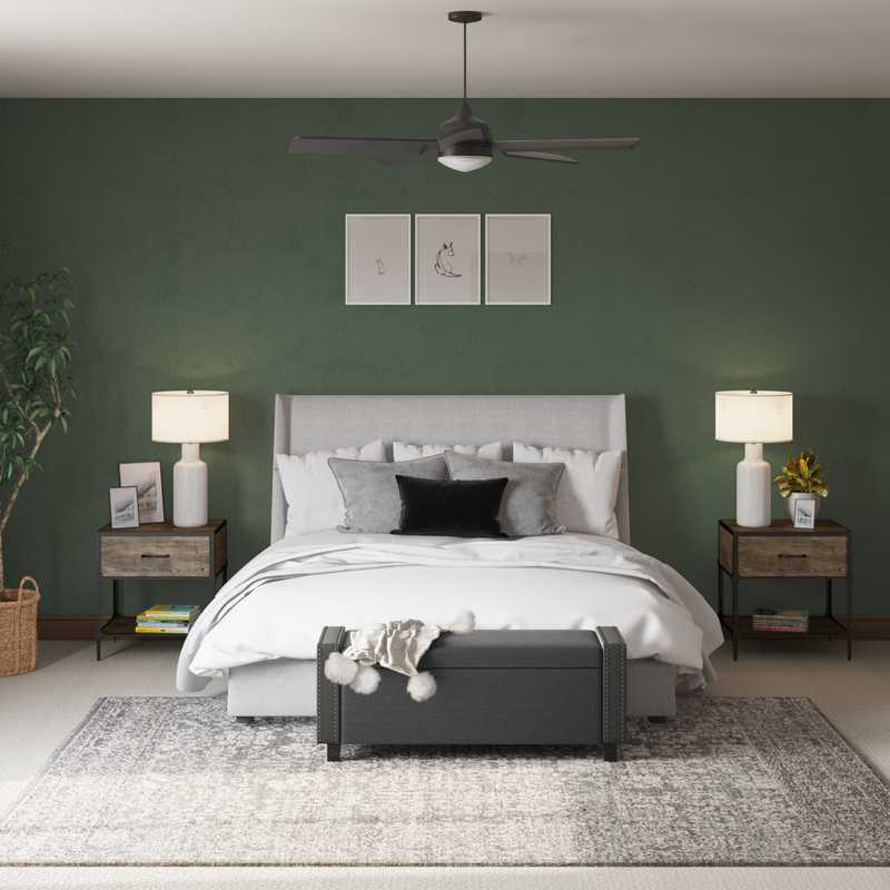 Industrial, Farmhouse, Transitional Bedroom Design by Havenly Interior Designer Erin