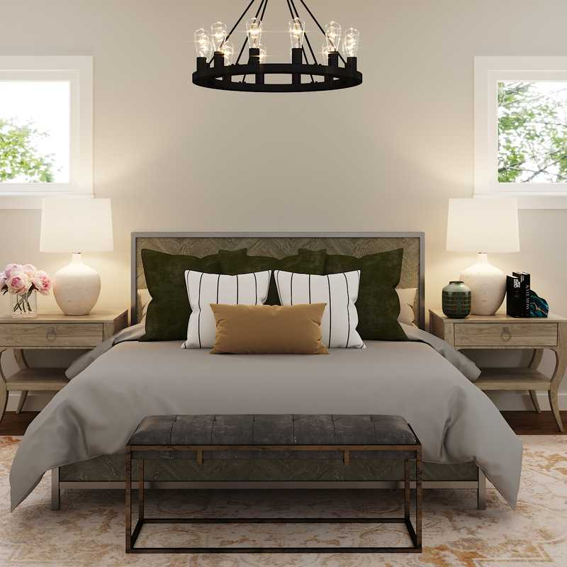 Classic, Farmhouse, Rustic, Transitional Bedroom Design by Havenly Interior Designer Christine