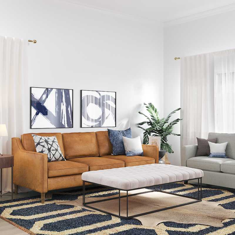 Contemporary, Midcentury Modern, Scandinavian Living Room Design by Havenly Interior Designer Erica