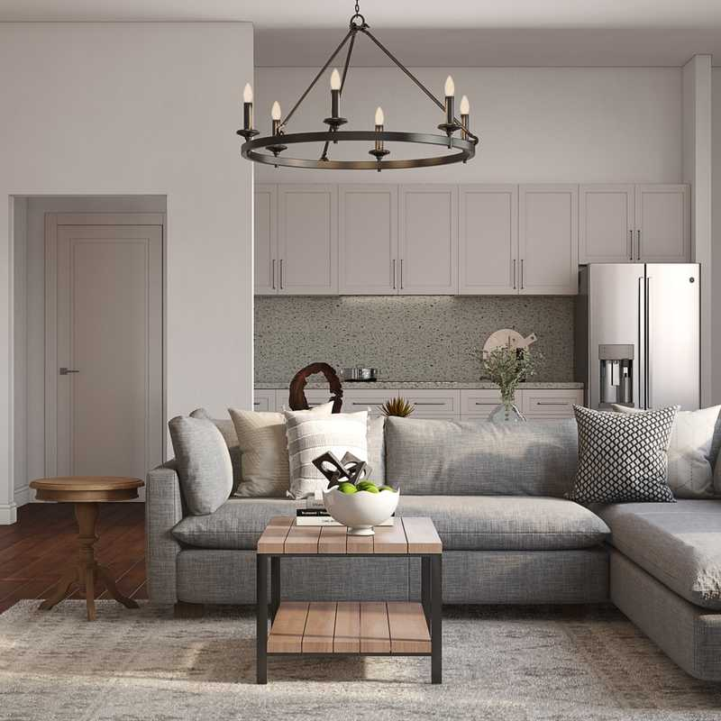 Classic, Farmhouse Living Room Design by Havenly Interior Designer Meghan