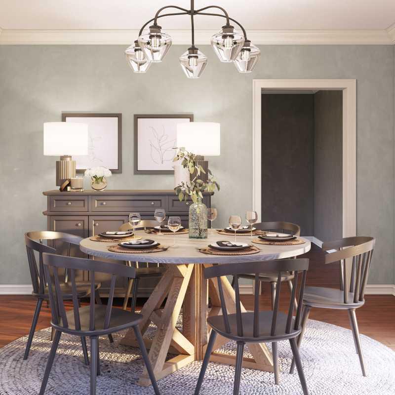 Contemporary, Modern, Farmhouse, Rustic, Transitional, Scandinavian Dining Room Design by Havenly Interior Designer Lyndsi