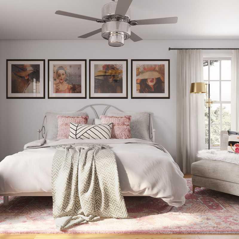 Contemporary, Glam Bedroom Design by Havenly Interior Designer Kamila