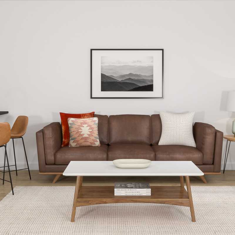 Modern, Classic, Transitional, Midcentury Modern, Scandinavian Living Room Design by Havenly Interior Designer Erin