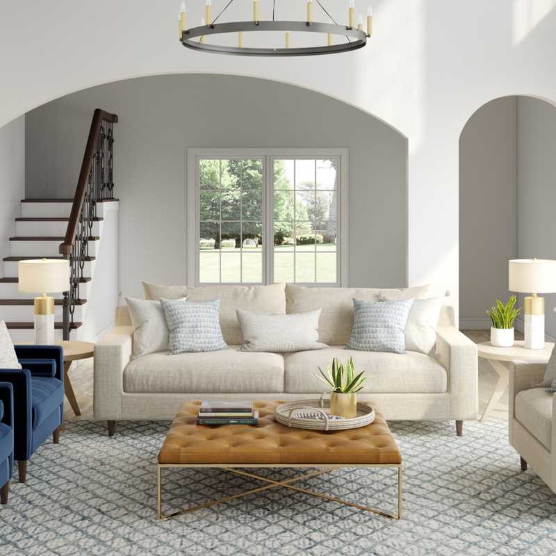 Contemporary, Modern, Farmhouse, Minimal, Scandinavian Living Room Design by Havenly Interior Designer Tara