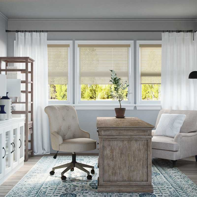 Eclectic, Traditional Office Design by Havenly Interior Designer Brianna