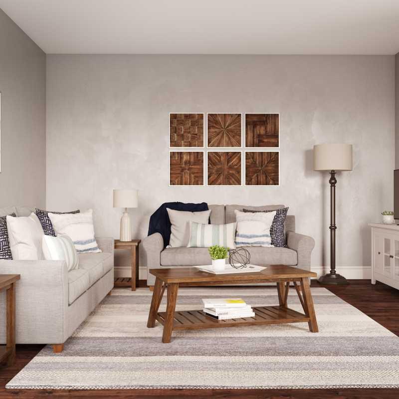 Coastal Living Room Design by Havenly Interior Designer Rachel