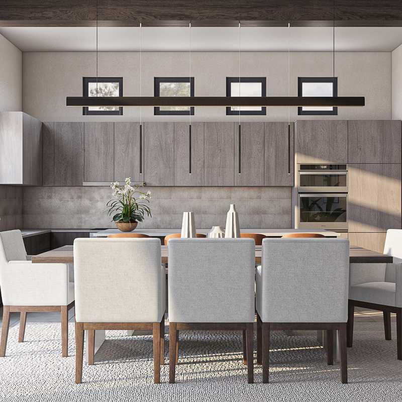 Contemporary, Modern, Glam Dining Room Design by Havenly Interior Designer Denise