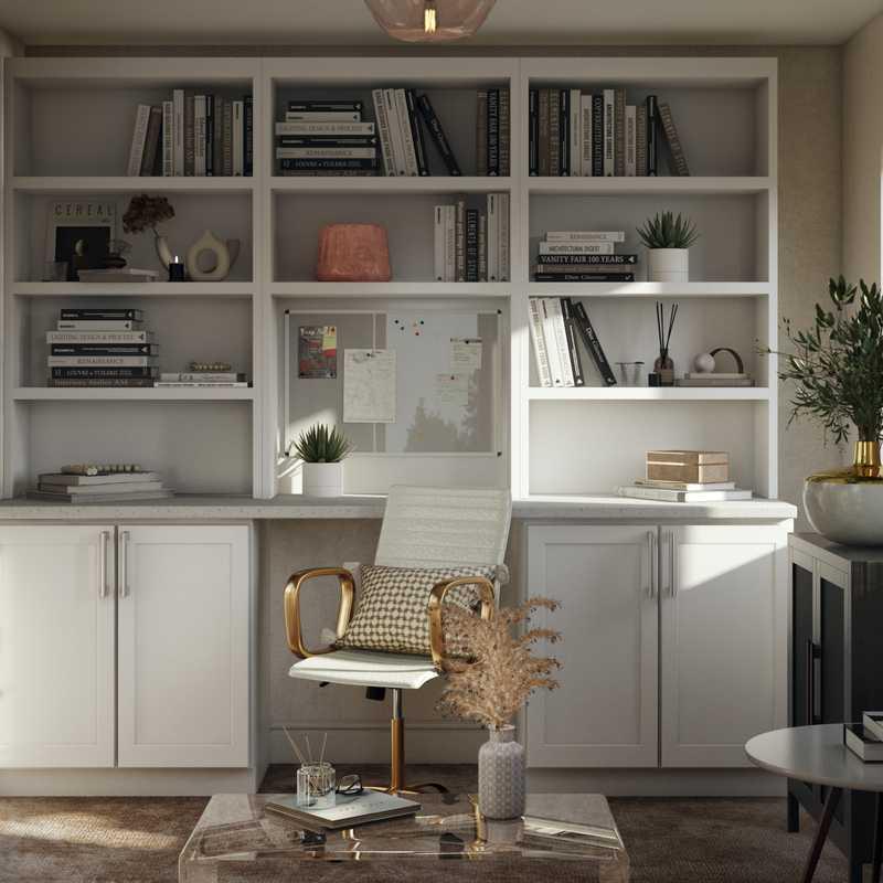Contemporary, Modern, Eclectic, Bohemian, Midcentury Modern, Scandinavian Office Design by Havenly Interior Designer Lisa