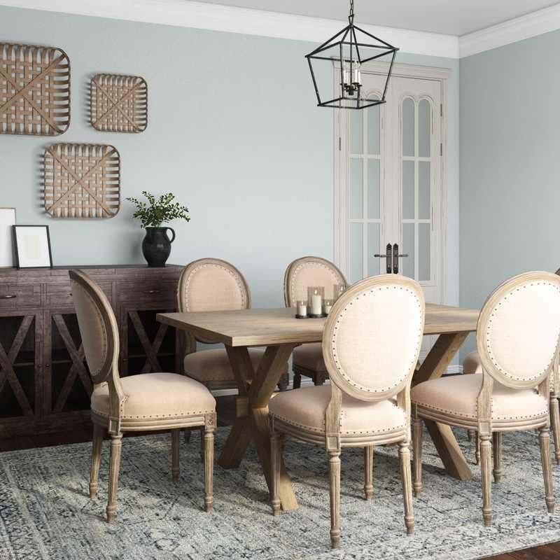 Farmhouse Dining Room Design by Havenly Interior Designer Tori