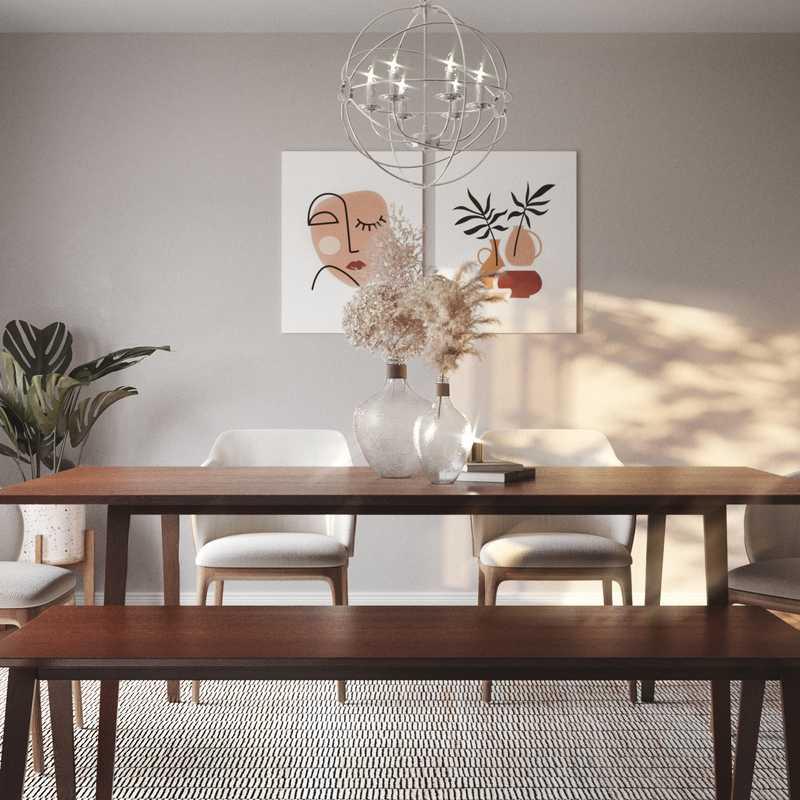 Modern, Farmhouse Dining Room Design by Havenly Interior Designer Natalie