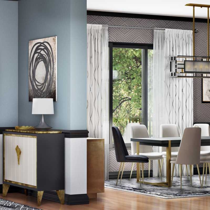 Modern, Glam Dining Room Design by Havenly Interior Designer Samantha