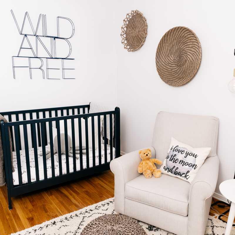 Eclectic, Bohemian Nursery Design by Havenly Interior Designer Sarah