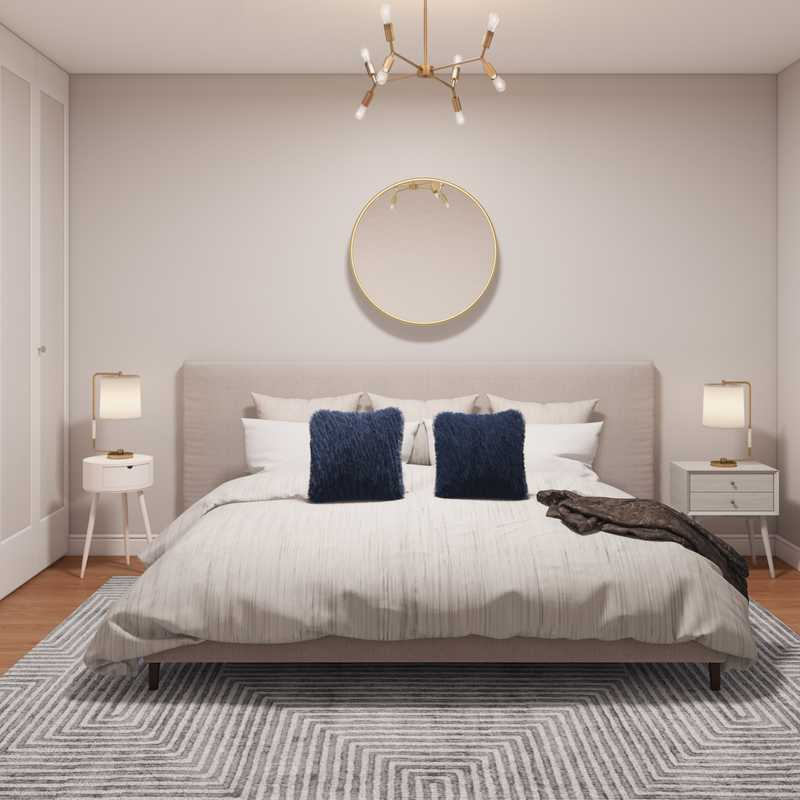 Contemporary, Modern, Glam, Industrial, Transitional, Midcentury Modern, Minimal Bedroom Design by Havenly Interior Designer Elizabeth