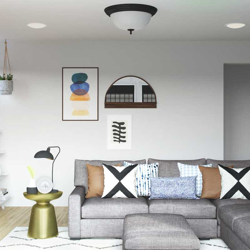 Eclectic, Bohemian, Midcentury Modern Living Room Design by Havenly Interior Designer Michela