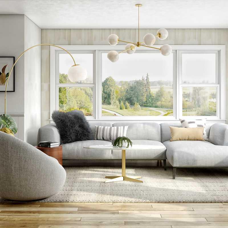 Modern, Midcentury Modern, Minimal Living Room Design by Havenly Interior Designer Sarah