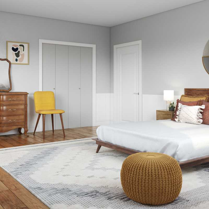 Modern, Southwest Inspired, Midcentury Modern Bedroom Design by Havenly Interior Designer Megan
