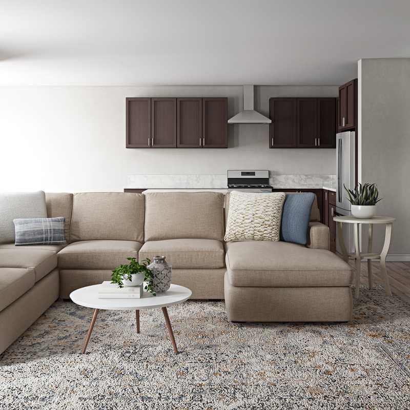 Modern, Minimal Living Room Design by Havenly Interior Designer Randi