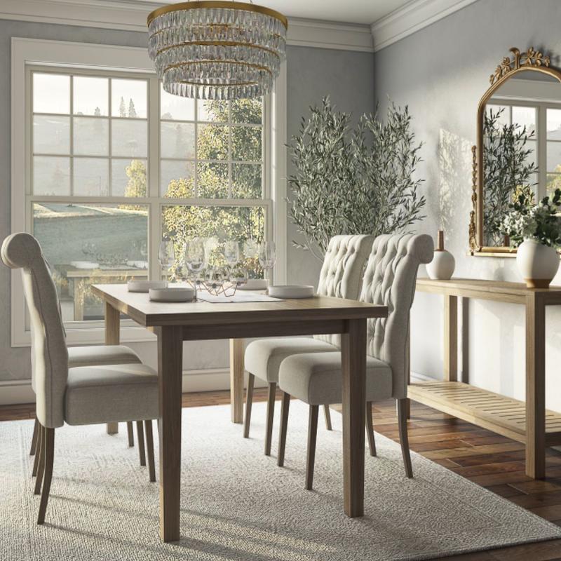 Classic, Glam Dining Room Design by Havenly Interior Designer Rebecca
