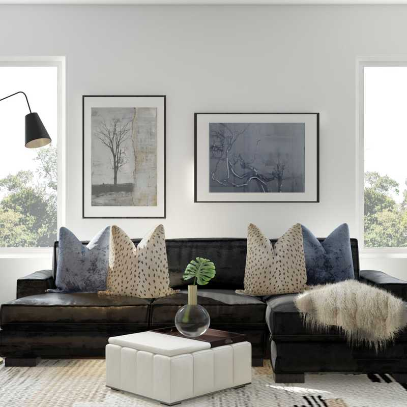 Modern Living Room Design by Havenly Interior Designer Lindsay