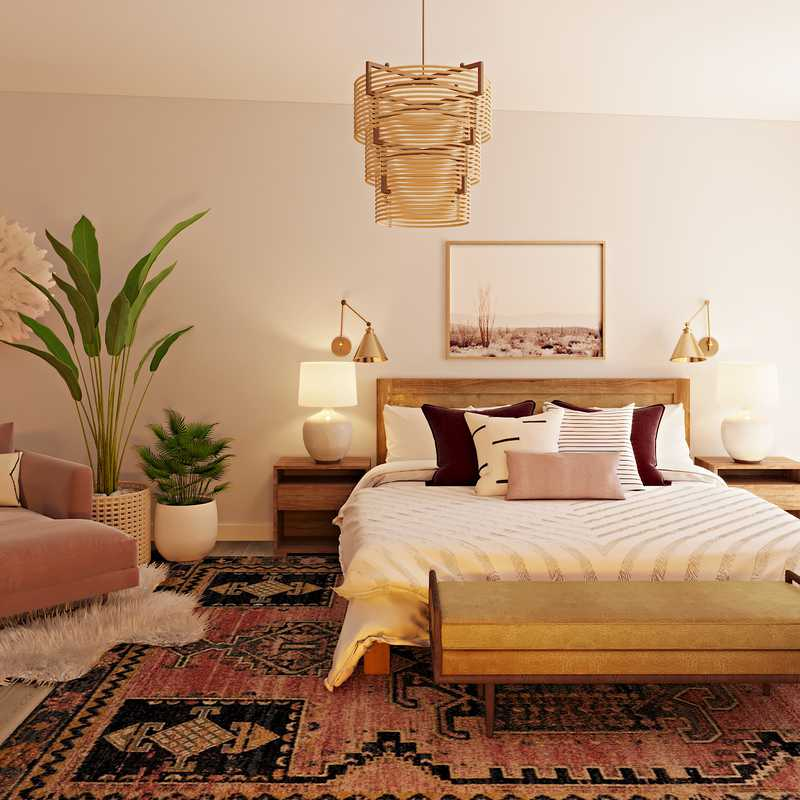 Eclectic, Bohemian, Glam Bedroom Design by Havenly Interior Designer Natalie