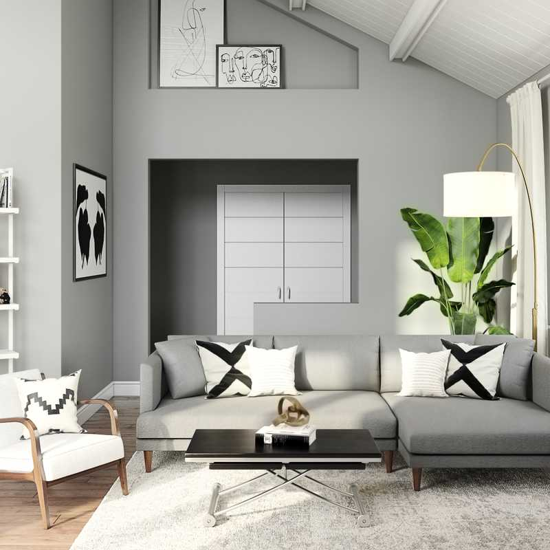 Contemporary, Modern, Midcentury Modern Living Room Design by Havenly Interior Designer Randi