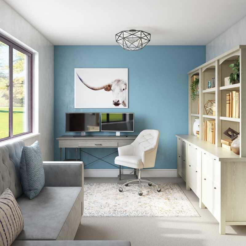 Modern, Classic Office Design by Havenly Interior Designer Randi
