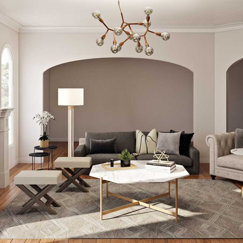 Contemporary, Modern, Transitional Living Room Design by Havenly Interior Designer Karen