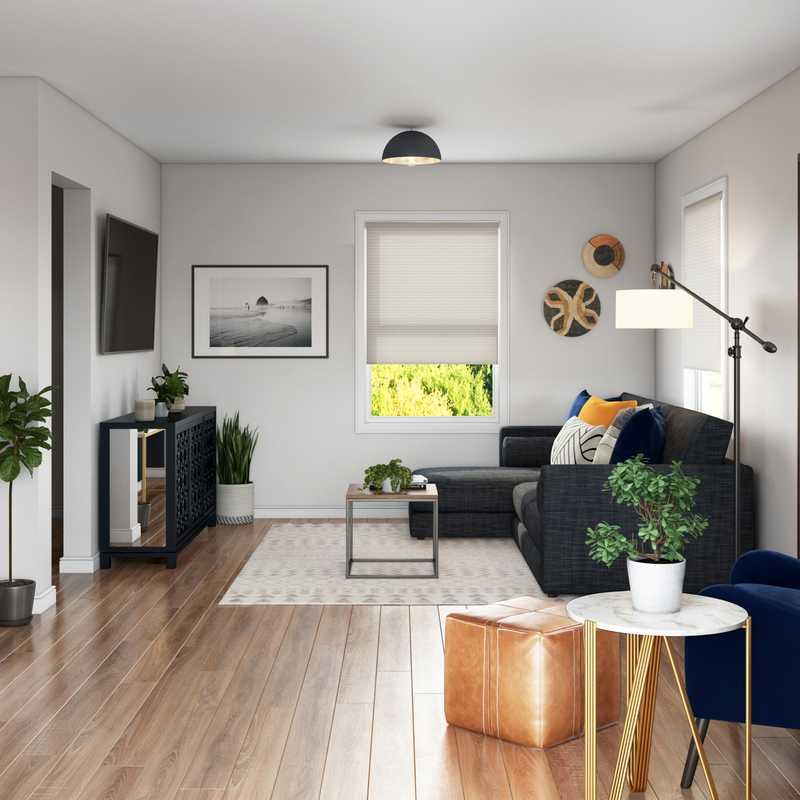 Contemporary, Bohemian, Transitional, Scandinavian Living Room Design by Havenly Interior Designer Tammy