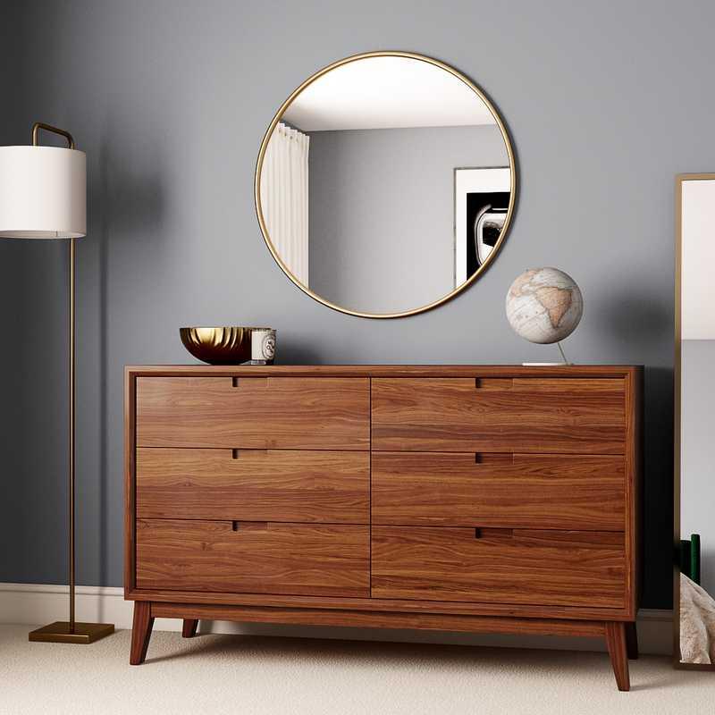 Modern, Midcentury Modern Bedroom Design by Havenly Interior Designer Jennifer