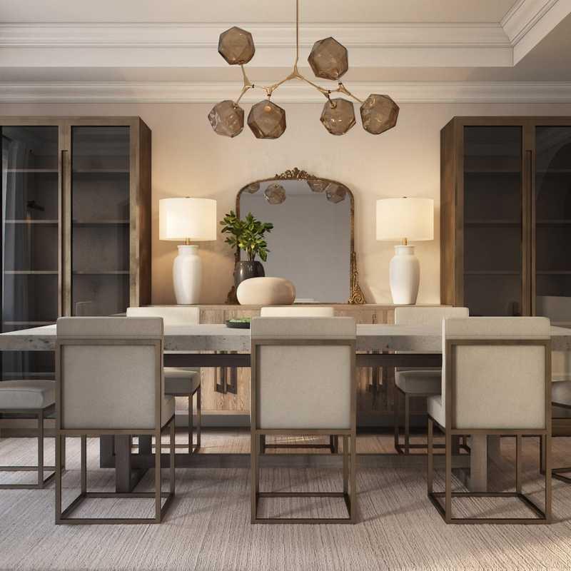 Modern, Rustic, Transitional Dining Room Design by Havenly Interior Designer Stacy