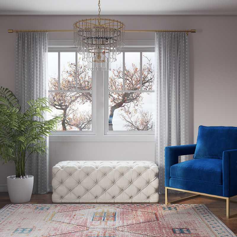 Glam Office Design by Havenly Interior Designer Katie