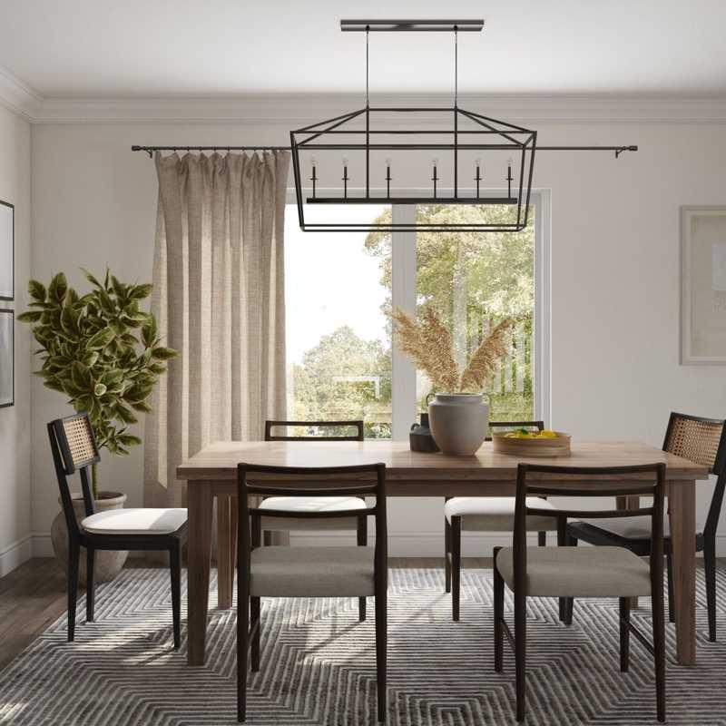Contemporary, Modern, Farmhouse Dining Room Design by Havenly Interior Designer Astrid