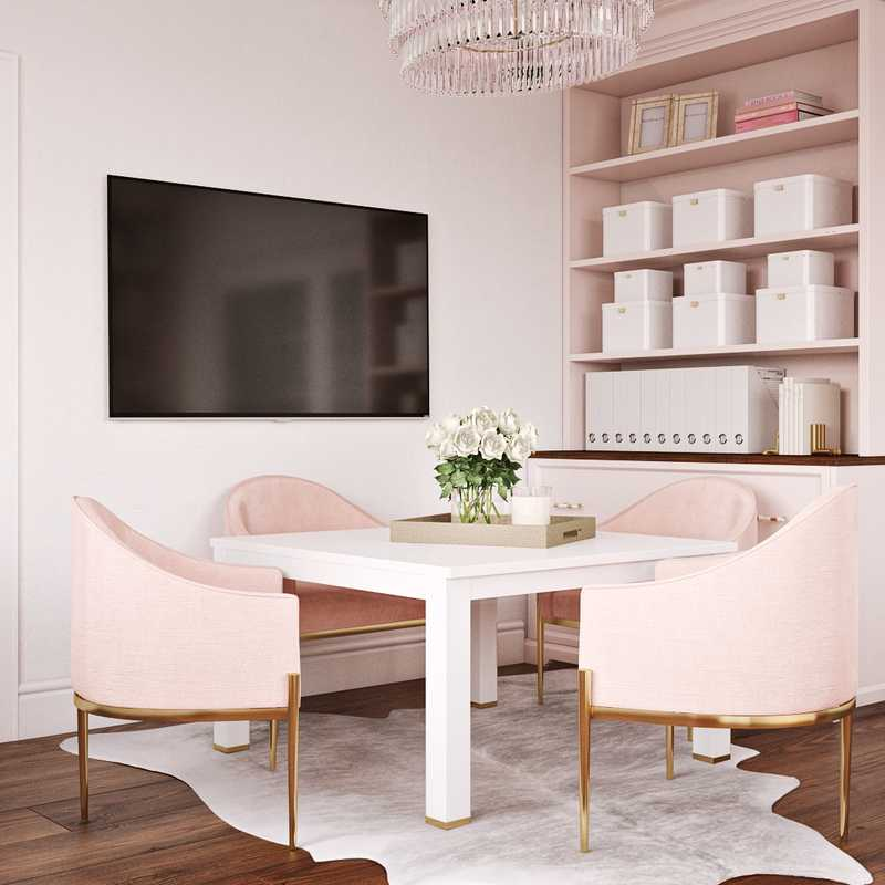 Contemporary, Glam Office Design by Havenly Interior Designer Shelby