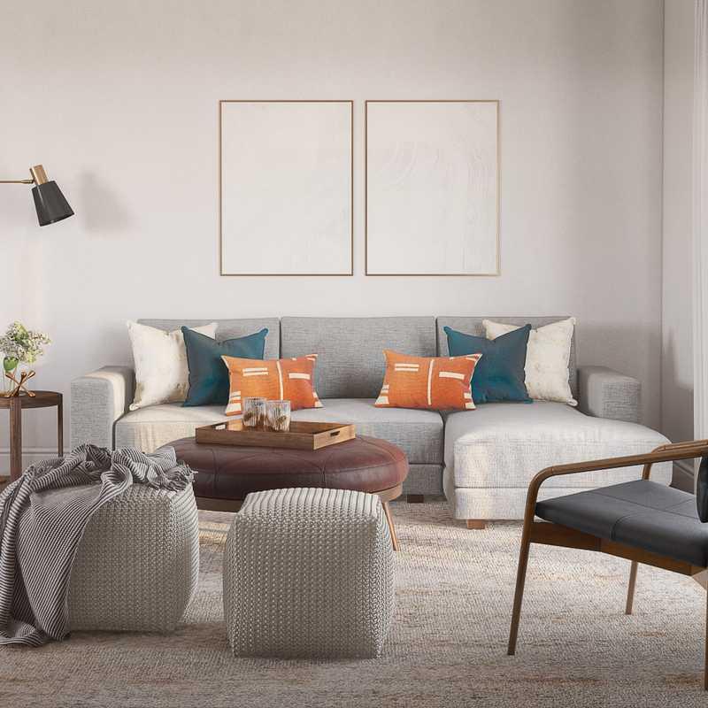 Midcentury Modern Living Room Design by Havenly Interior Designer Astrid