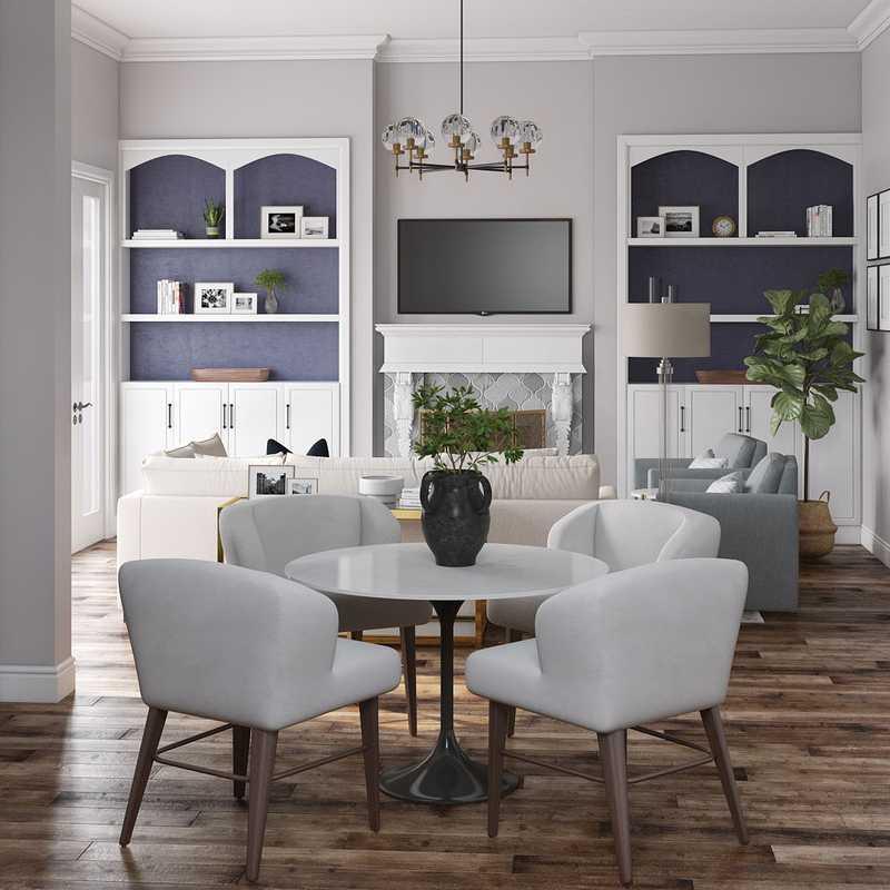 Contemporary, Modern Living Room Design by Havenly Interior Designer Katie