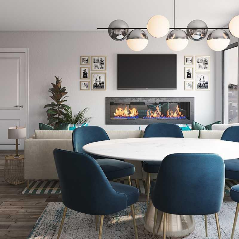 Contemporary, Classic, Coastal Living Room Design by Havenly Interior Designer Ghianella