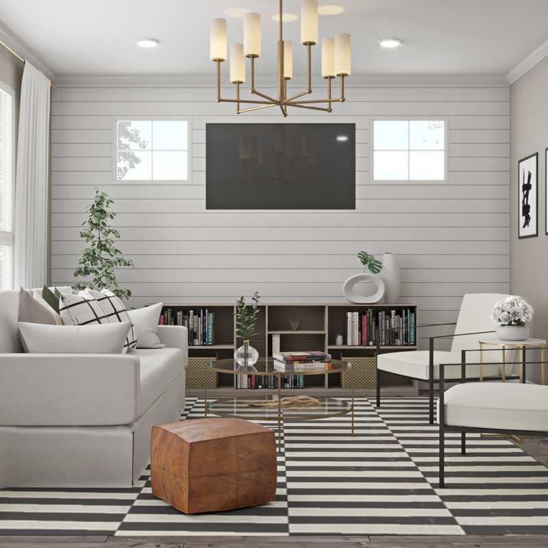 Modern, Classic, Transitional Living Room Design by Havenly Interior Designer Jennifer