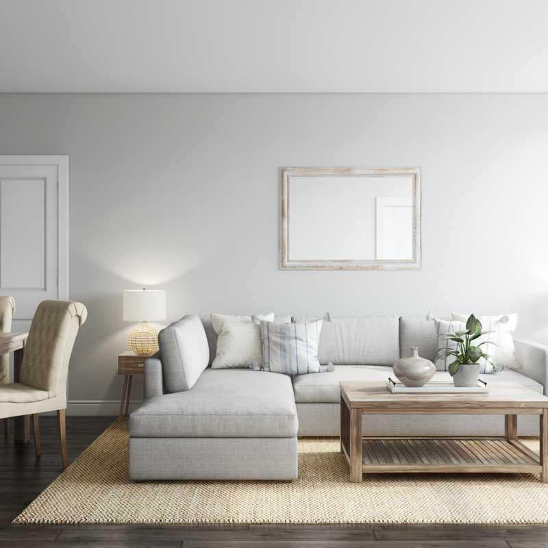 Coastal, Traditional, Global Living Room Design by Havenly Interior Designer Kayla