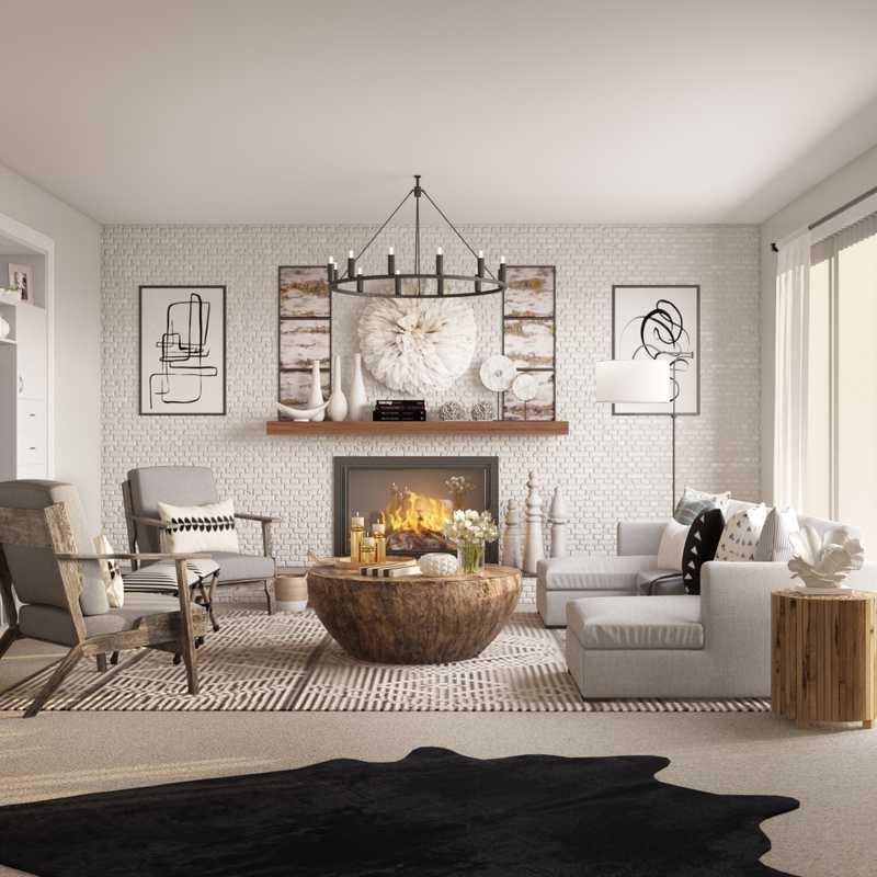 Coastal Living Room Design by Havenly Interior Designer Melisa