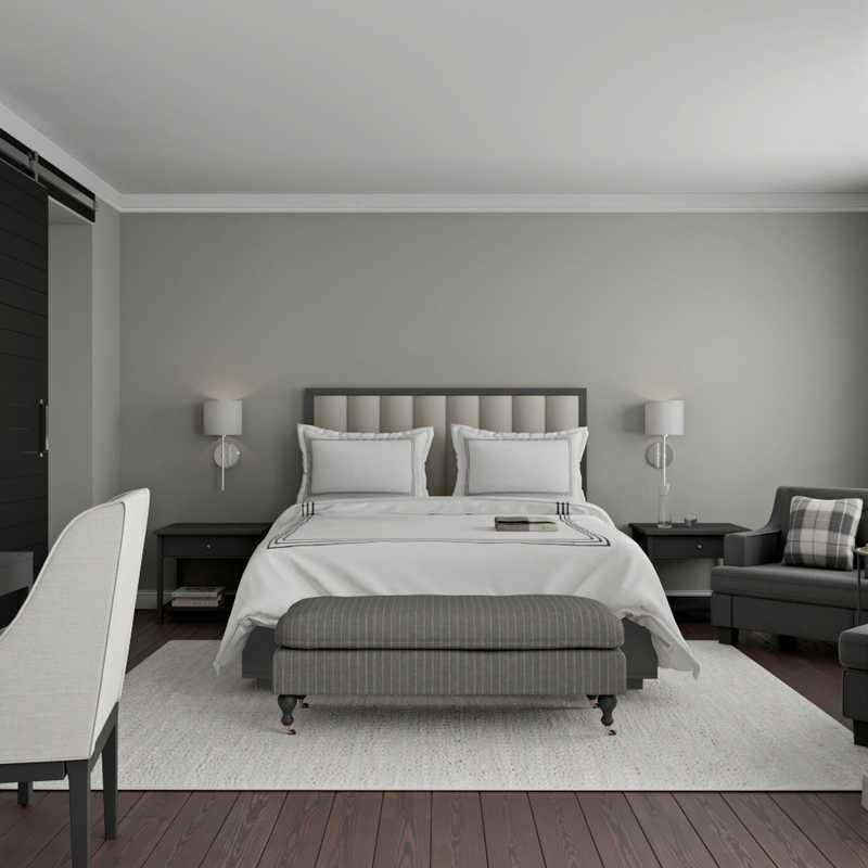 Contemporary, Rustic Bedroom Design by Havenly Interior Designer Vivian