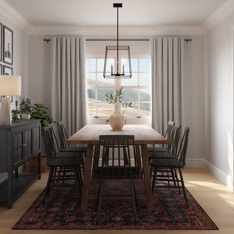 Bohemian, Scandinavian Dining Room Design by Havenly Interior Designer Nicole