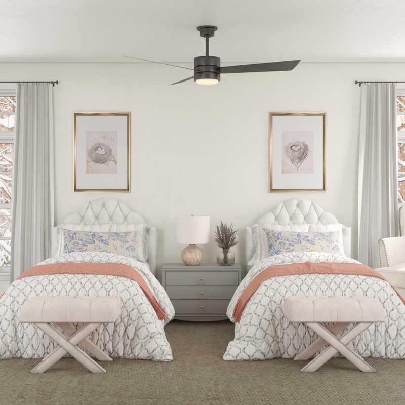 Eclectic, Coastal, Traditional Bedroom Design by Havenly Interior Designer Paige