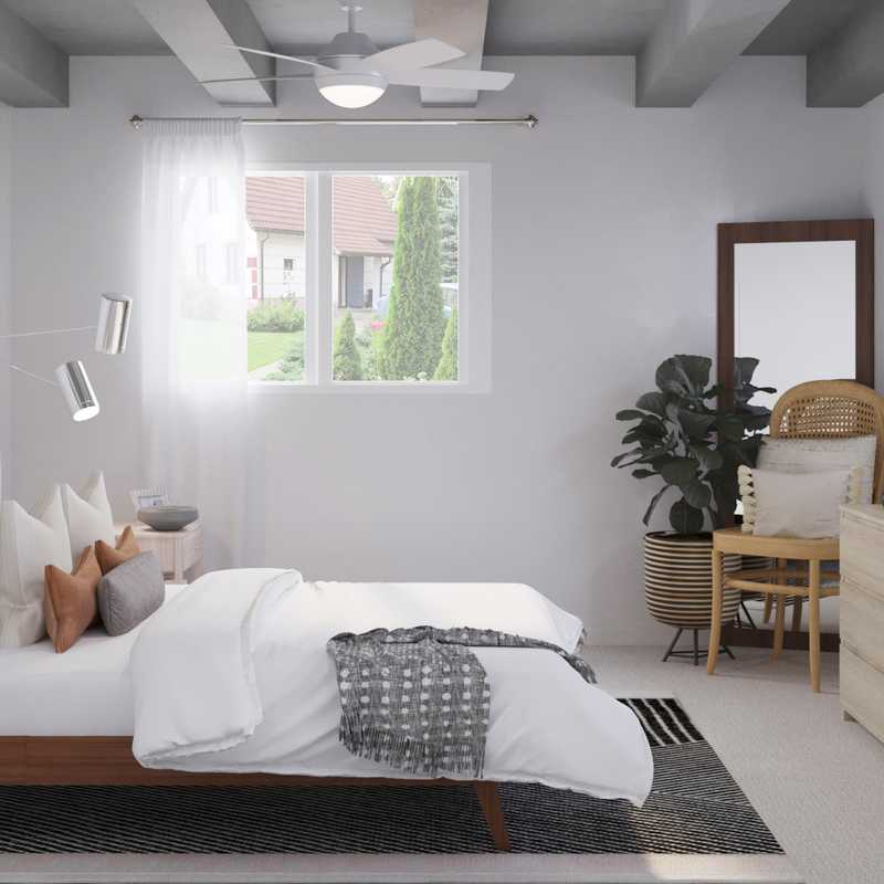 Modern, Bohemian, Midcentury Modern, Minimal Bedroom Design by Havenly Interior Designer Vivian