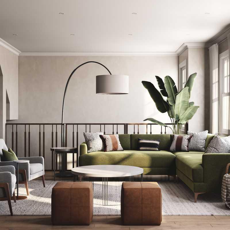 Contemporary, Scandinavian Living Room Design by Havenly Interior Designer Anny